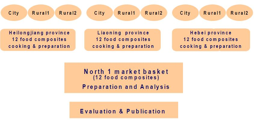 Figure 11 Food composite method (with North 1 market basket as an example)
