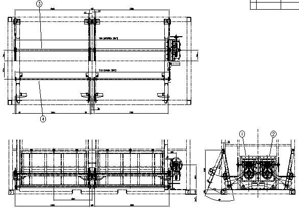 그림 3-37 호퍼형 일관수송용기 하화장치