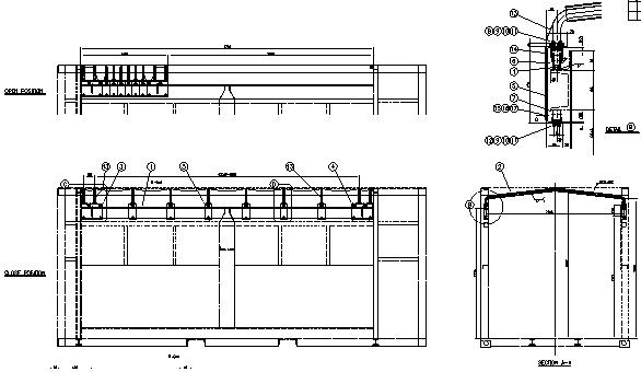 그림 3-38 호퍼형 일관수송용기 덮개장치