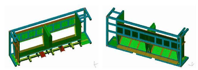 그림 3-40 수송용기 구조해석 모델