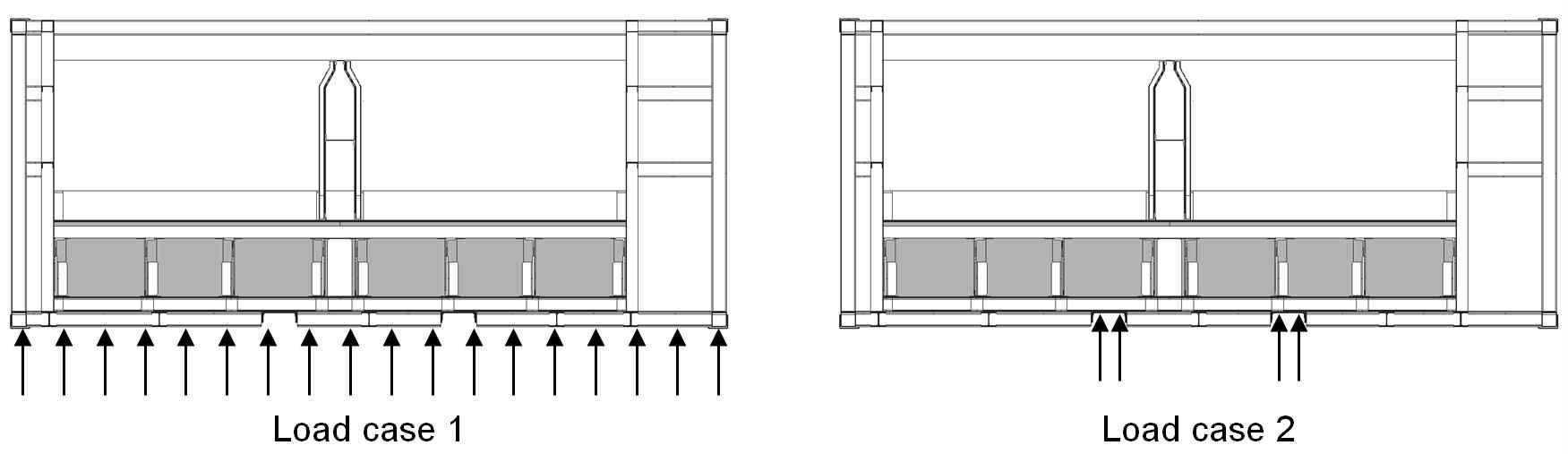 그림 3-41 호퍼형 일관수송용기 구조해석을 위한 지지조건