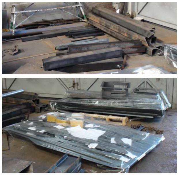 그림 3-50 호퍼형 일관수송용기 시제품 제작을 위한 자재