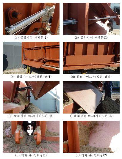 그림 3-54 호퍼형 일관수송용기 시제품 2차 기능시험