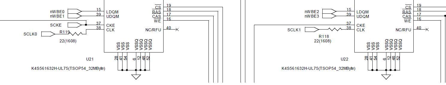 SDRAM 클럭 회로부