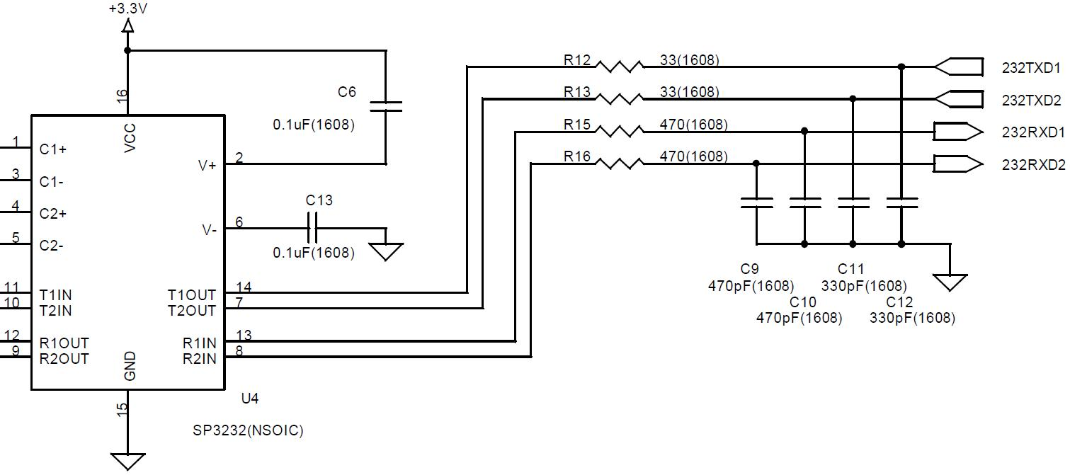 RS232C 통신 Line Bypass Capacitor 적용