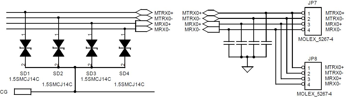 RS422 통신 Line Bypass Capacitor 적용