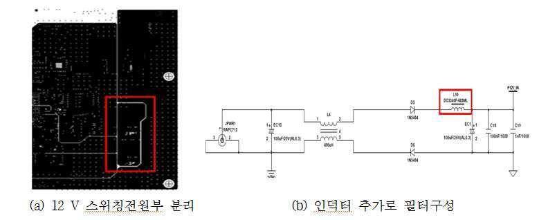12 V 전원부 스위칭 노이즈 대책