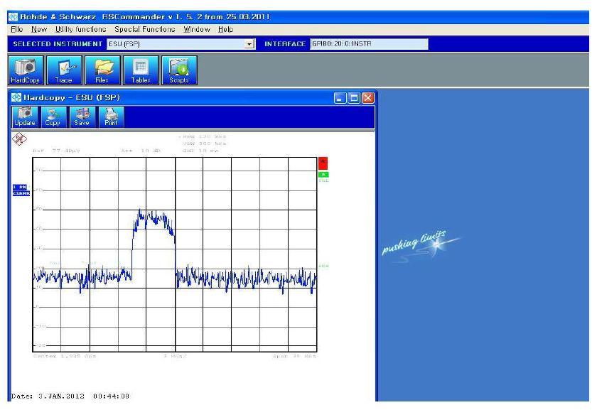 RSCommander를 이용한 측정결과