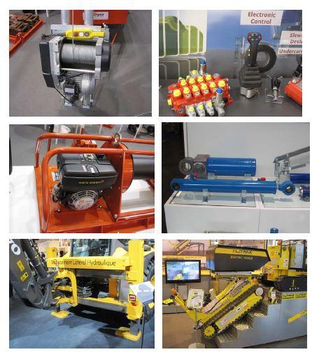 그림 95. 건설기계 개발에 사용된 다양한 요소기술