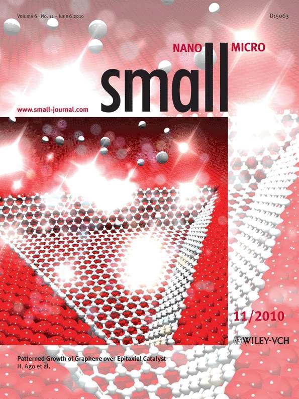규슈대학의 단결정 그래핀 성장에 관한 연구결과가 커버스토리로 실린 Small 2010년 vol. 6, no. 11의 표지 사진