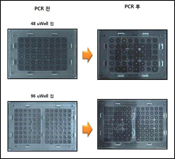 48 uWell 칩과 96 uWell칩의 2차 내구성 결과