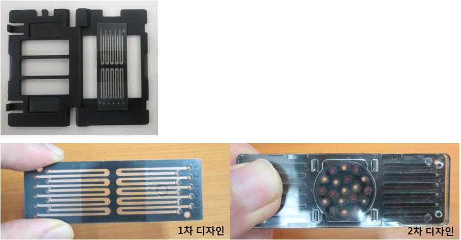 10 및 17 다채널 미세 유로 칩 이용 real-time RT-PCR 칩 제작