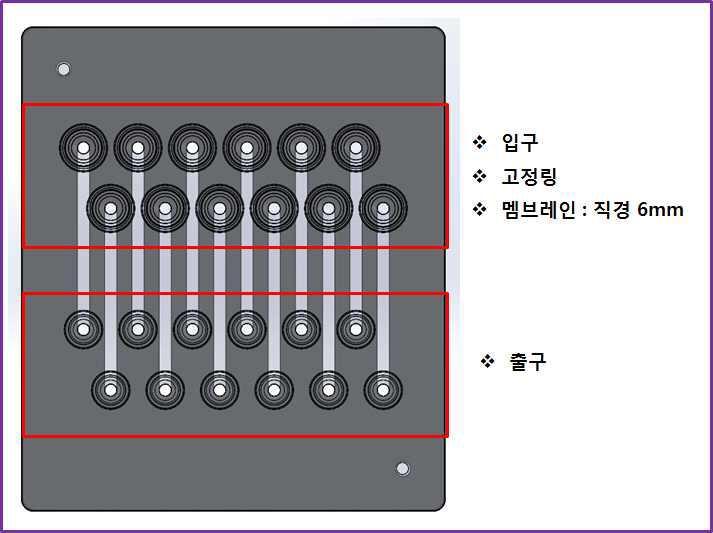12채널 다중 유전자 분리 칩 설계