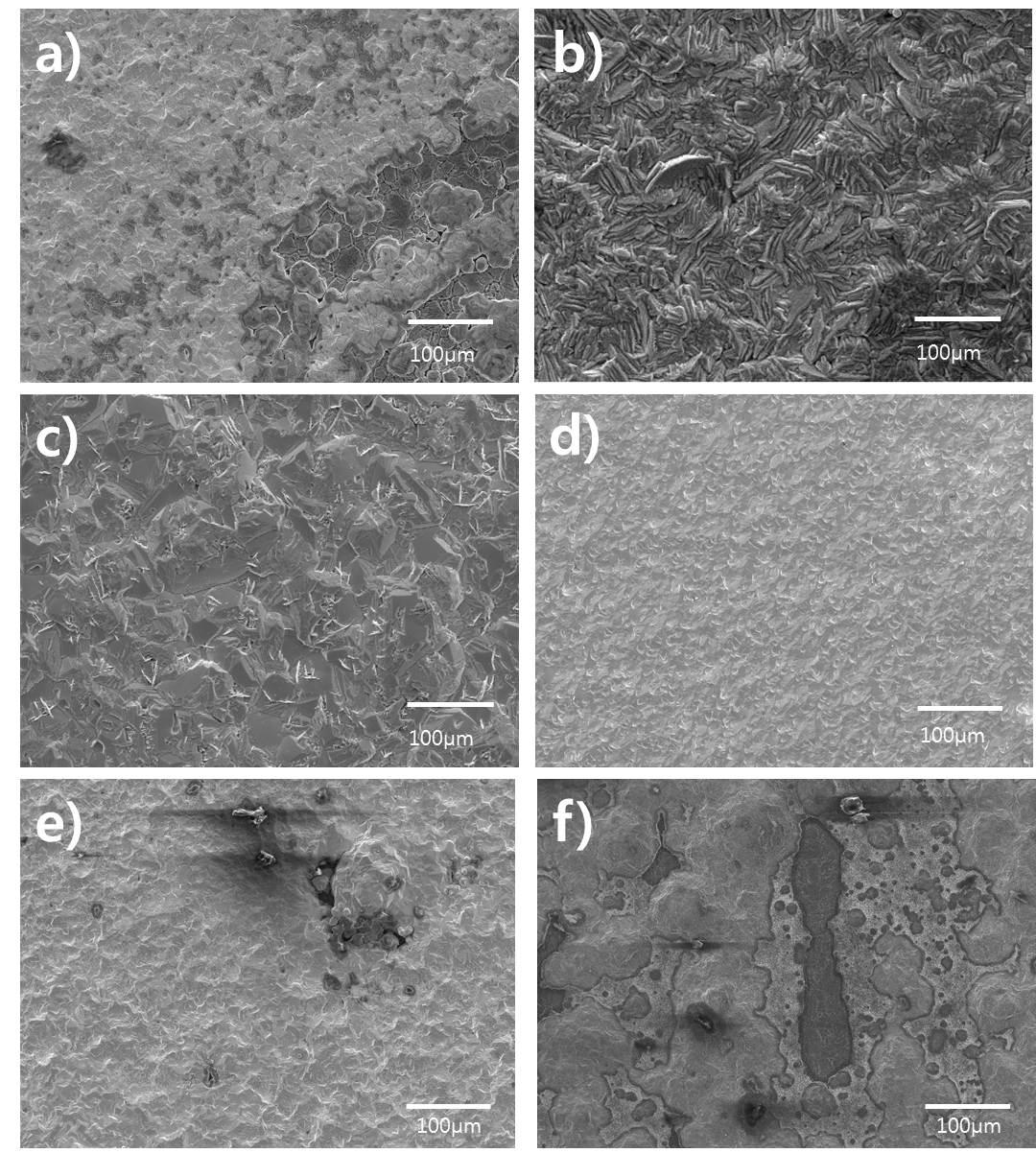 전류 밀도 변화에 따른 코팅 피막의 표면 SEM 분석