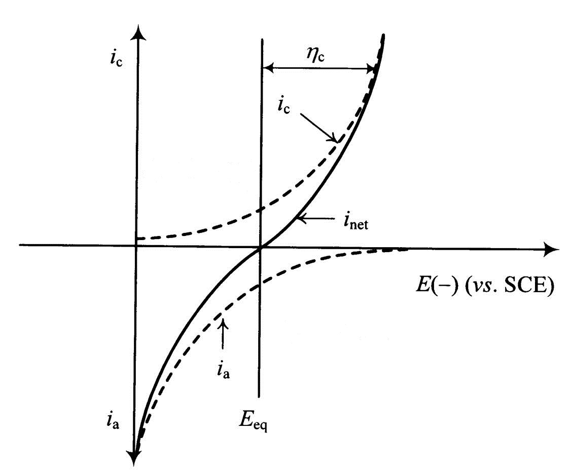 Current-Potential curves in Butler-Volmer equation