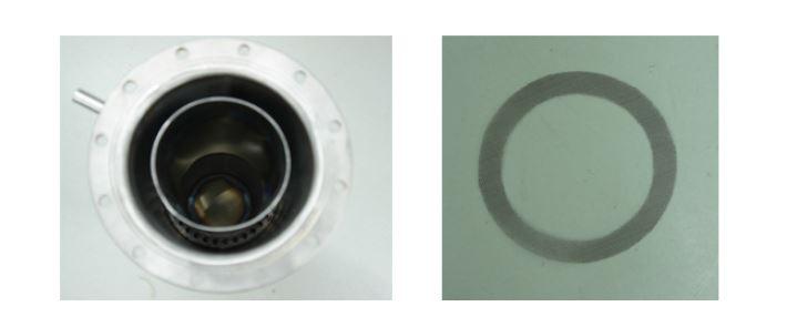 WGS 반응부 하단의 분배 구멍 및 메쉬