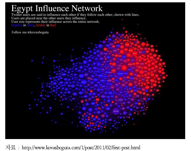 SNS 활용 이집트 정권교체기 여론 분석