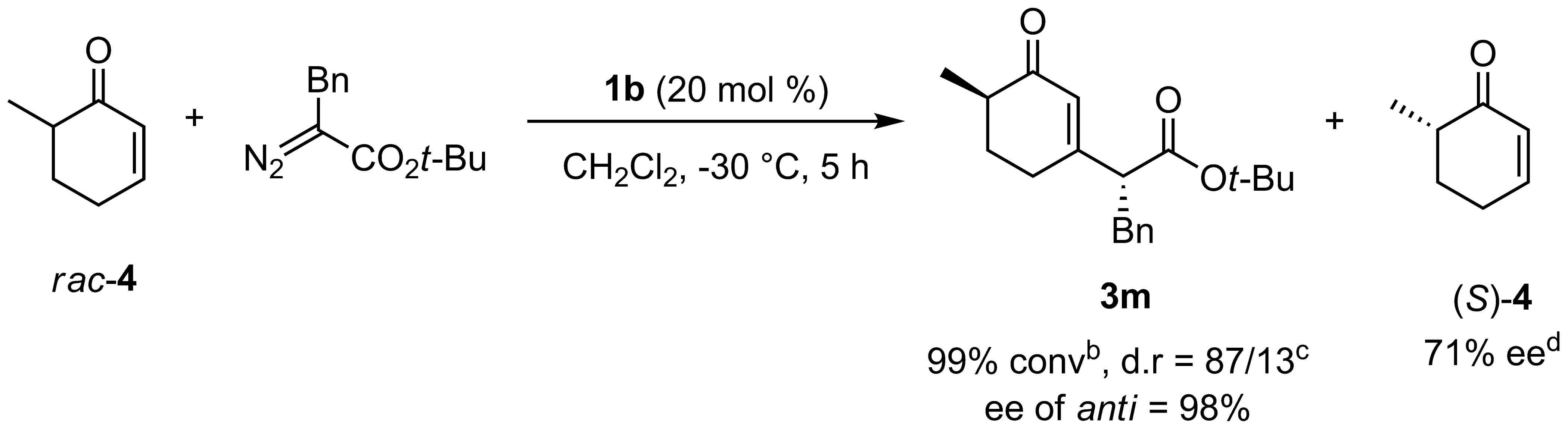 Enantio- and Diastereoselective Carbon Insertion Reaction of 6-Methyl-2-cyclohexen-1-onea.