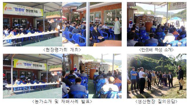 영덕 만풍배 실증농가 현장평가회(2011. 9월) 개최