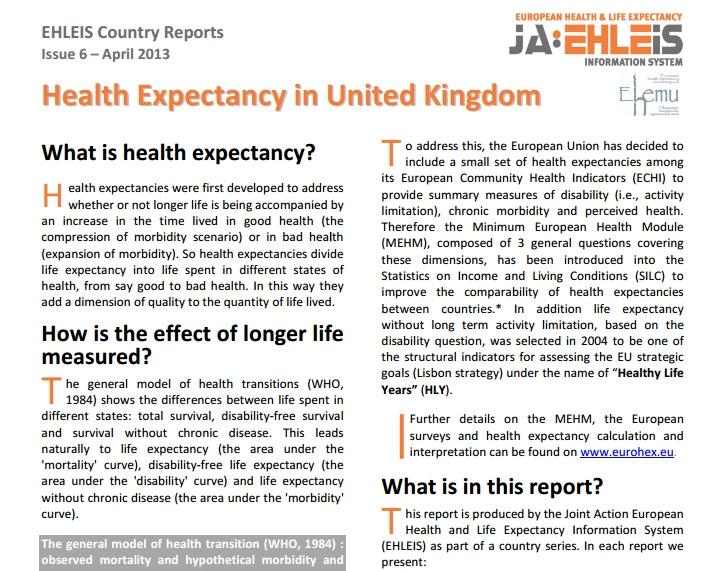〔그림 4-22〕 EurOhex의 국가별 보고서 사례: 영국(1쪽)