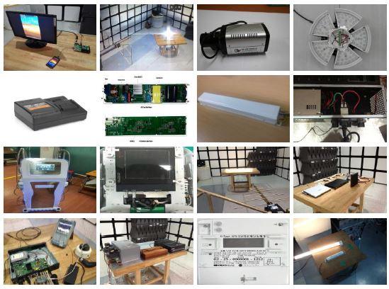 그림 1. EMC 대책기술 지원 제품 및 측정사진