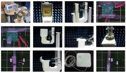 그림 33. 전자파 소재·부품 특성 측정 지원 제품 및 측정사진