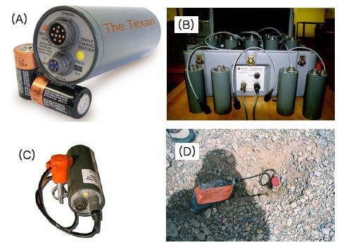 Seismic sensor and recorder used on land