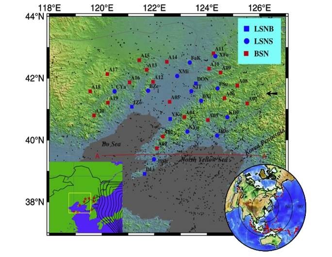 The study region in Eastern China and the seismic stations used in the study.