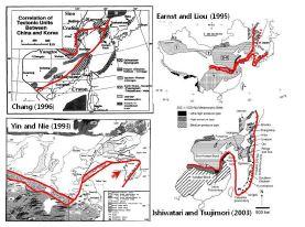 지질조사를 통하여 제안된 우리나라를 포함한 동아시아 지체구조 형성 모델
