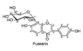 Puerarin의 구조