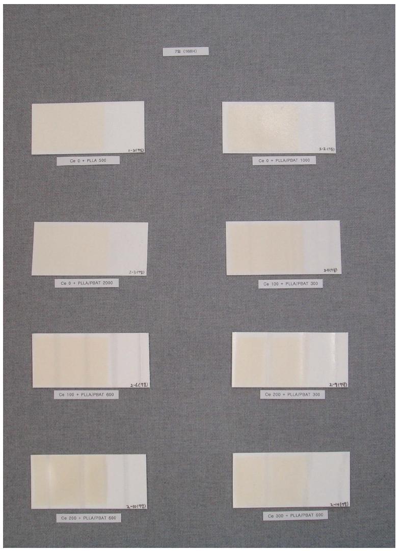 PS UV 조사 분해 시험 (7일)