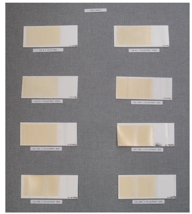 PS UV 조사 분해 시험 (14일)