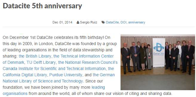 Datacite overview