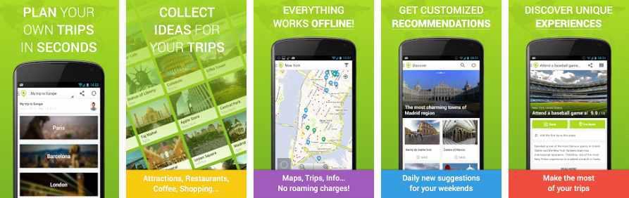 TouristEye 의 모바일 앱 서비스 화면