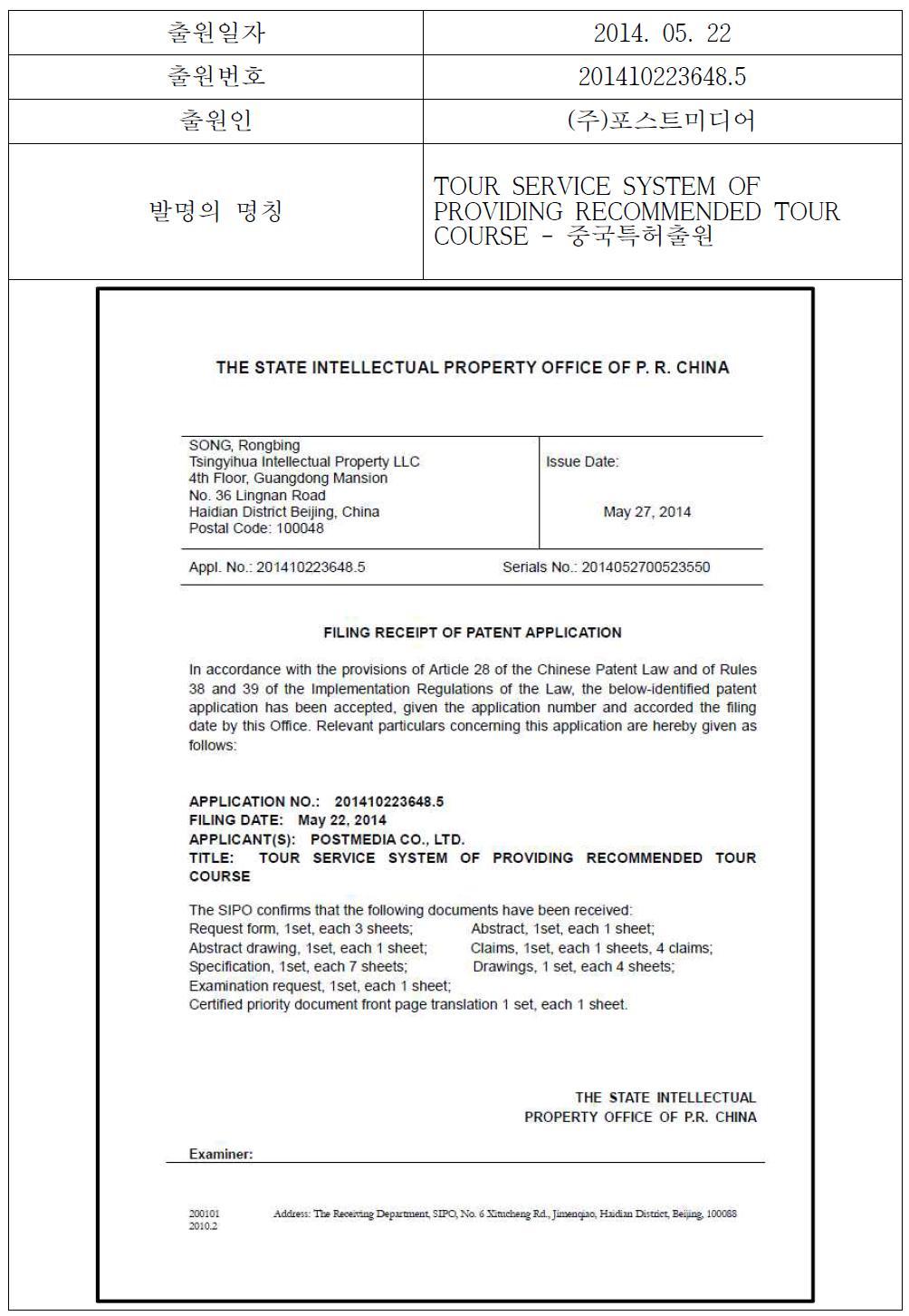 해외 출원 특허