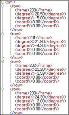 오브젝트 궤도 XML 예시