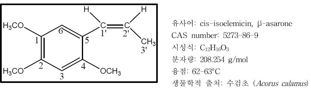 β-asarone의 구조