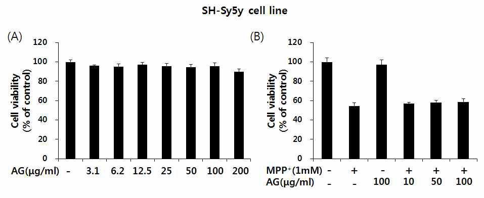 SH-SY5Y 세포에서 수검초 최적 추출물의 안정성 검사.