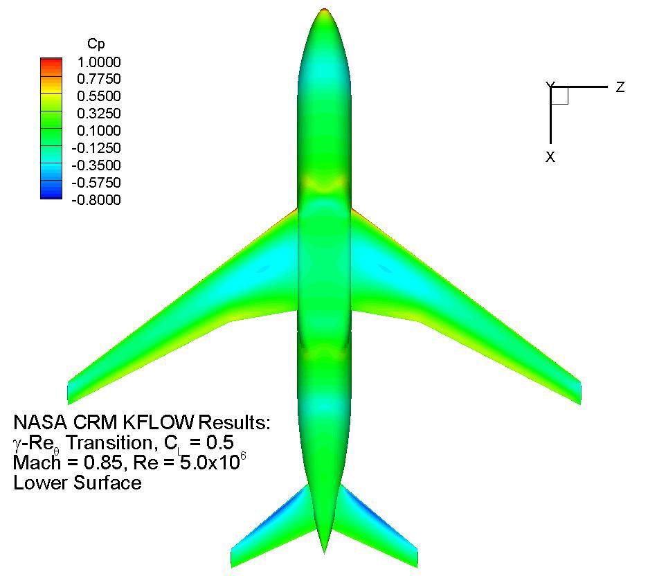 Pressure contour(Lower surface)
