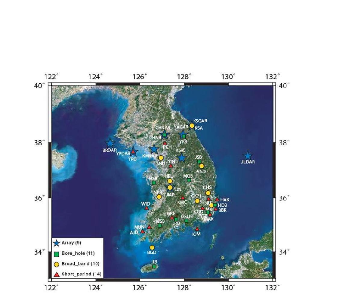 한국지질자원연구원 지진관측망