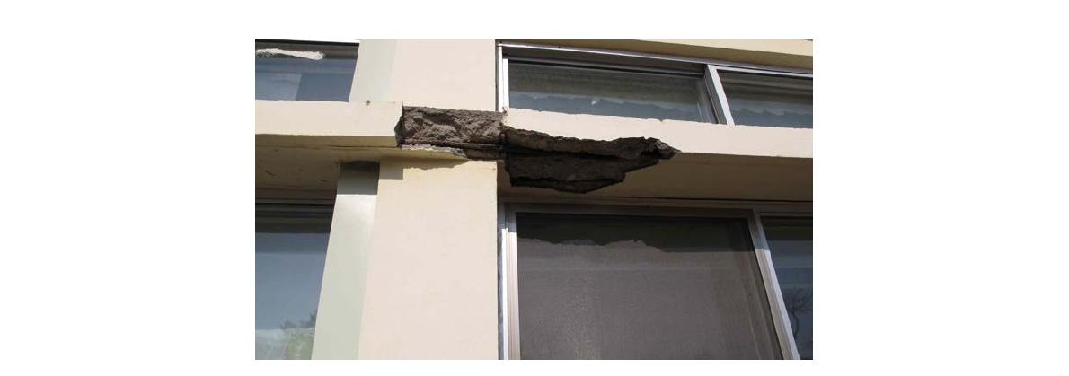 Seismic Damage in School Building affected by earthquake