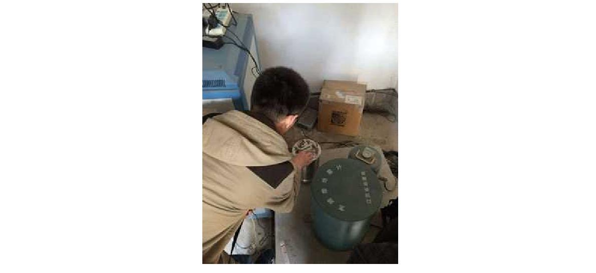 강소성 연웅강시 서위진 지진관측소 지진계 설치