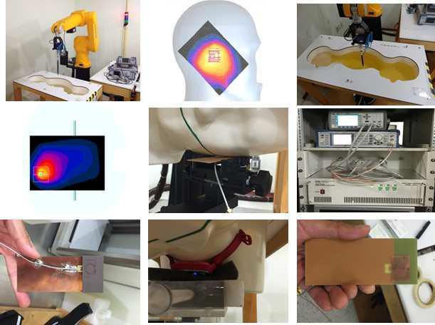 중소기업 인체보호 SAR 측정 지원 및 제품 사진