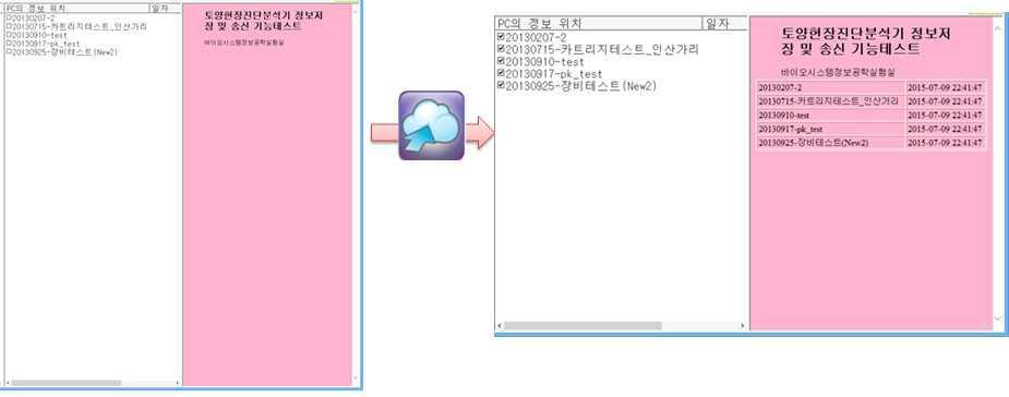 인터넷 정보 송시 수행 이전 및 이후 결과 화면