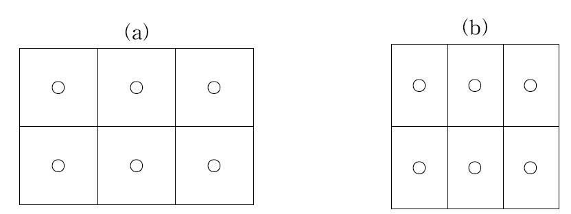 포장 형태에 따른 시료 채취 구역의 구분 예시