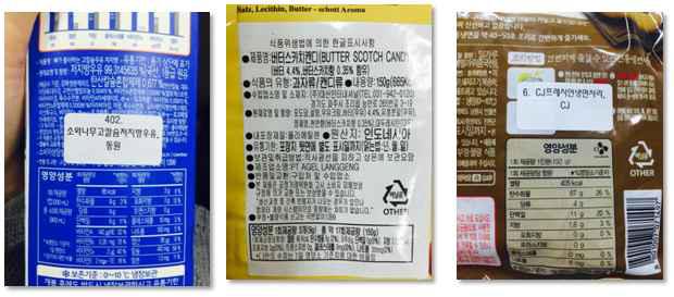 시장조사를 통한 가공식품의 당류 표시량(총당류 함량) 조사