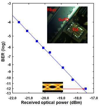 수광 소자+TIA의 BER 특성