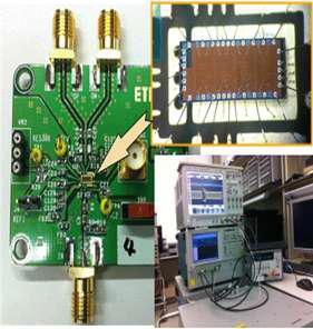 제작된 칩 및 테스트 보드