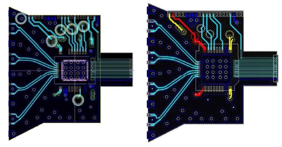 TIA FPCB(좌) 및 LDD용 FPCB(우) 설계