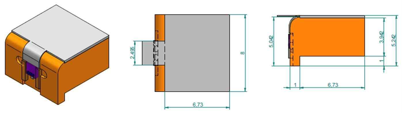 Tx 및 Rx용 광결합 모듈(COAW) 설계